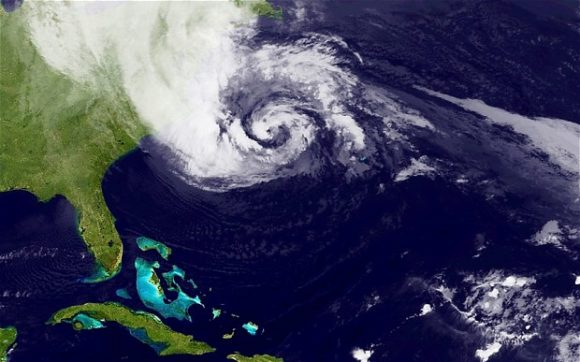Hurricane Sandy seen from Space